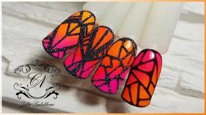 Геометрический дизайн ногтей Используем пигменты   Гель лак ...