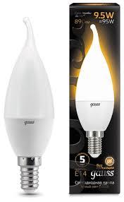 <b>Лампа</b> светодиодная <b>gauss 104101110</b>, E14, CA37, 9.5Вт ...