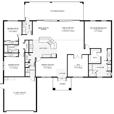 Oak home floor plan for new home construction in Jupiter  Florida    home floor pans oak