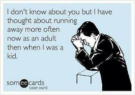 Awesome quote - Running away | Funny Dirty Adult Jokes, Memes ... via Relatably.com