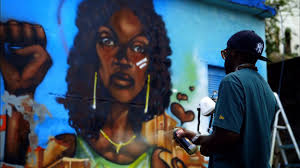 graffiti artists take to the streets of to combat violence graffiti artists take to the streets of to combat violence against women newshour