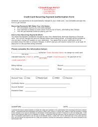 Credit Card Recurring Payment Authorization Form - DOC, PDF - page ... Credit Card Recurring Payment Authorization Form page 1