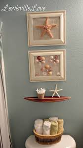 beach themed bathroom accessories idea: and there you have it a very simple beach bathroom makeover