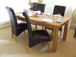 faux leather dining chair black:  full size of simple dining set black faux leather dining chairs beige wooden laminate dining chair