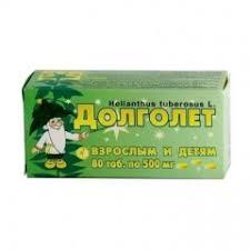 <b>Долголет таблетки</b> 500мг №<b>80</b> купить в Москве по цене от 142 ...