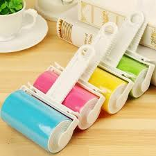 <b>Washable Silicone Lint</b> Roller <b>Sticky</b> Reusable Dust Pet Hair ...