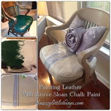 painted leather chair before after can you paint leather furniture