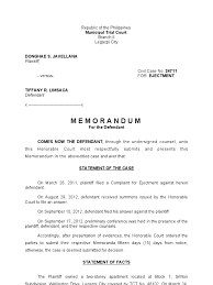 trial memorandum sample plaintiff