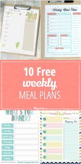 best ideas about menu planning templates meal make dinner time easier these weekly meal planning templates