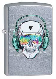 Купить <b>Зажигалка ZIPPO</b> 29855 <b>Skull Headphone</b> - Череп и ...