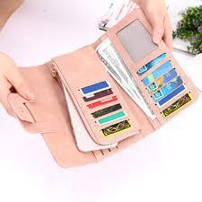 new <b>fashion</b> buckle <b>women's long wallet</b> candy color <b>women's</b> clutch ...