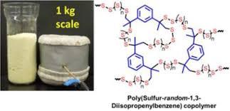 Kilogram scale inverse vulcanization of elemental sulfur to prepare ...