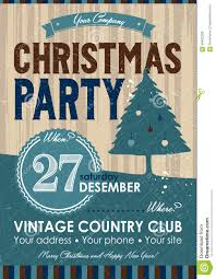 christmas party flyer stock vector image  christmas party flyer