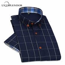 <b>Unisplendor</b> 2019 <b>Summer Men Short</b> Sleeve Shirts Casual Plaid ...