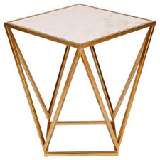 marble dining table adecc: maia metal modern side accent table with marble top