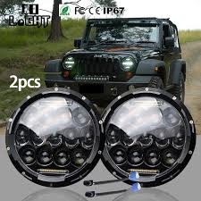 <b>CO LIGHT</b> 2 Pcs <b>7 Inch</b> LED Headlights Kit <b>7</b>'' High Low Beam for ...