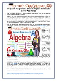 help assignments extends algebra homework solver assistance