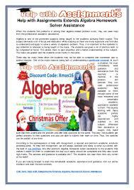 help assignments extends algebra homework solver assistance