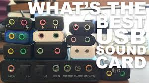 What's the Best <b>USB Sound</b> Card / Audio Adapter? - YouTube