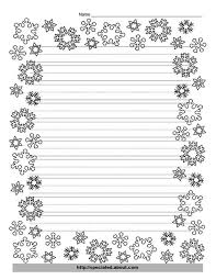 snowflakes  writing and paper on pinterestsnowflake writing template   lines   christmas writing paper   decorative borders