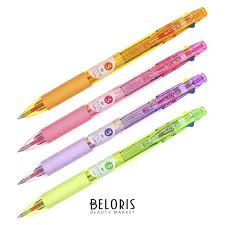 <b>Ручка шариковая</b> автомат Hi-Color 3 3цвета 0,7мм, корпус микс ...