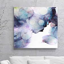 Soft Violet Dream <b>Bubbles Abstract</b> Art Print Original Home Interior ...