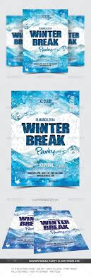 5 soft subtle fabric backgrounds flyers nightclub and frozen winter break party flyer poster template psd design