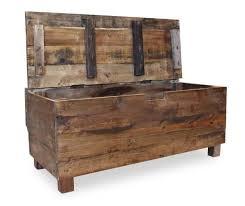 Rustic <b>Storage Bench Solid Reclaimed</b> Wood Furniture Vintage ...