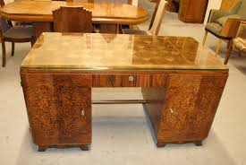 table for office desk brown accent paintted oak wood office desk with glass table top and cafe lighting 16400 natural linen