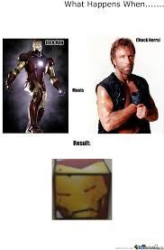 Iron Man vs. Chuck Norris by k0k0t0 - Meme Center via Relatably.com