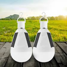 2pcs 7w solar powered <b>e27 led</b> rechargeable light bulb tent ...