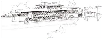 Frederick C  Robie House   Wright on the WebRobie House drawing