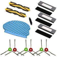 Mopping Cloth Rag <b>Main Brush Roller Side</b> Brush HEPA Filter for ...