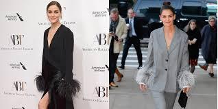 Перья и атлас: Кэти Холмс в <b>костюме Prada</b> и Оливия Палермо в ...