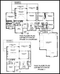 Expandable Craftsman House Plan BS     AD Sq Ft   Build in    BS    Main Floor Plan