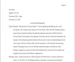 mla format bibliography template  free sample annotated    essay bibliography example