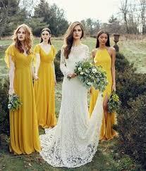 Yellow Chiffon <b>Bridesmaid</b> Dress,Simple Long <b>Bridesmaid</b> Dress ...