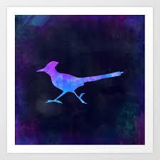 ROADRUNNER IN SPACE // <b>Animal</b> Graphic <b>Art</b> // Watercolor ...