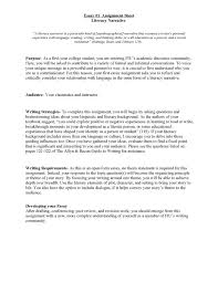 cover letter essay literacy narrative unit assignment spring pageessay assignment example essay assignment example