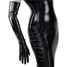 2019 Fashionable <b>Women'S</b> Long Leather <b>Gloves 70cm</b> Long Over ...