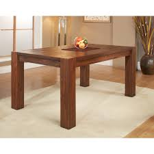 wood extendable dining table walnut modern tables: modus meadow solid wood extending dining table brick brown dining tables at hayneedle