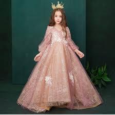 Elegant Little <b>Girls</b> Pageant Dresses Long Sleeves <b>Ball Gown</b> ...