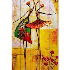 <b>Картина на дереве</b> Танцовщицы 40х30 — купить по цене 3490 ...