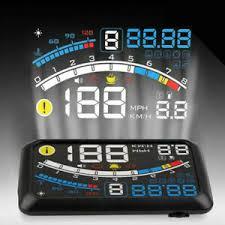 <b>W02</b> HUD Head Up Display <b>5.5inch</b> Windshield Projector OBD2 II ...