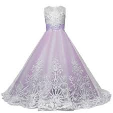new baby dress pink tulle bow ball gown white princess girl dresses sleeveless flower first communion e319