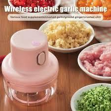 Kitchen Pink Wireless <b>Mini Electric Garlic</b> Puree Food Chopper Tools