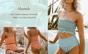 Aleumdr Womens 2 Pieces Bandeau Bikini Swimsuits ... - Amazon.com