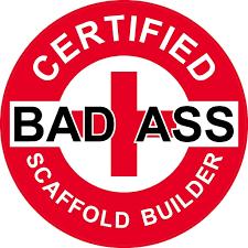 com red certified bad ass scaffold builder hard hat com 3 red certified bad ass scaffold builder 2 hard hat helmet stickers h737 automotive