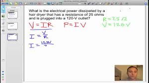 ohm s law and electrical power problem solution ohm s law and electrical power problem solution