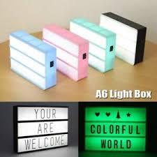 Plaques & Signs Combination <b>LED</b> Night <b>Light</b> Box USB Port DIY ...